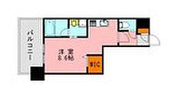 LANDIC K2620 2階ワンルームの間取り