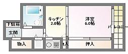 ルモンド兵庫[7階]の間取り