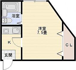 コンフォート本町[2階]の間取り