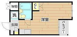 メゾンプリムローズ[4階]の間取り