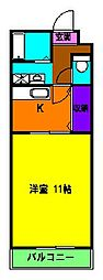 静岡県浜松市中区幸4丁目の賃貸マンションの間取り