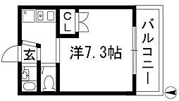 大阪府豊中市清風荘2丁目の賃貸アパートの間取り