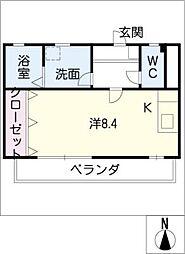 エステート[3階]の間取り