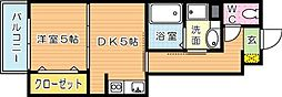 サンヒルズ黒崎駅[1階]の間取り