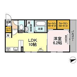(仮)D-room 住吉 II[1階]の間取り