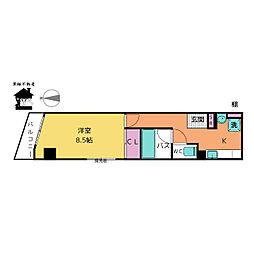 愛知県名古屋市中区新栄町3丁目の賃貸マンションの間取り