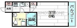 セレニテ江坂4番館[5階]の間取り