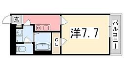 兵庫県姫路市片田町の賃貸マンションの間取り