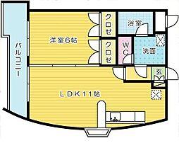 ウィルステージ古船場[12階]の間取り