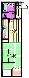 永井ハウス[301号室]の間取り