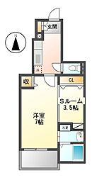 エムズステージ V[1階]の間取り