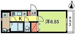 東京都杉並区松ノ木2丁目の賃貸アパートの間取り
