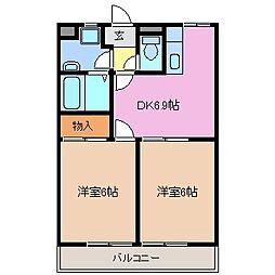 サンモールミキ[2階]の間取り