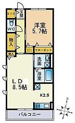 パークハイム横浜鶴見[305号室]の間取り