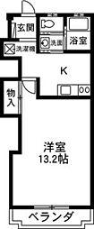 セゾン平成[105号室]の間取り