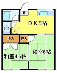 サンハウスII[1階]の間取り