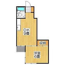 サテンドール千本[6階]の間取り
