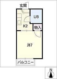 タウニー菊井[2階]の間取り