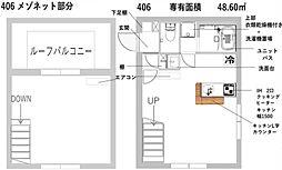新築 レスタ大井町[406号室号室]の間取り