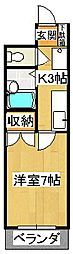 石原マンション[406号室]の間取り