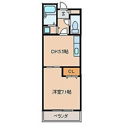 モンシェリ[1階]の間取り