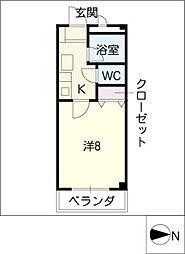 ドミール神宮[2階]の間取り