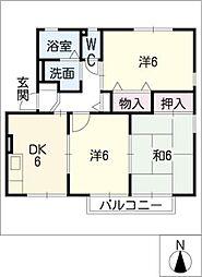 ファミールメゾンB棟[1階]の間取り