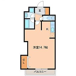 プロムナーデ神宮[305号室号室]の間取り