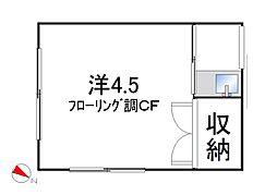 第二みずほ荘[1階2号室号室]の間取り