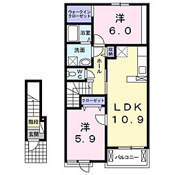 リトル プリンス A[2階]の間取り