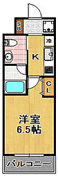 CITY PAL TAISHO[5階]の間取り