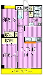 カーサakiyama[3階]の間取り
