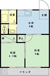 千葉県浦安市Cy1の賃貸アパートの間取り