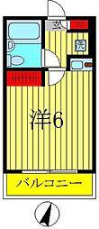 スカイハイツ新松戸[205号室]の間取り