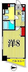 東京メトロ半蔵門線 住吉駅 徒歩5分の賃貸マンション 5階1Kの間取り