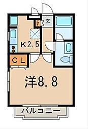 東京都西東京市南町3丁目の賃貸マンションの間取り