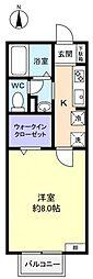 メゾンサンシャインヒル[2階]の間取り