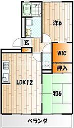 ルミエール赤坂[1階]の間取り