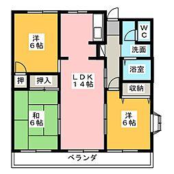 エラン平針[11階]の間取り
