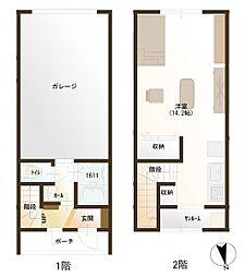 富山県射水市海老江の賃貸アパートの間取り