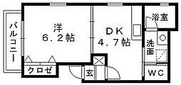 OKビル[5B号室]の間取り