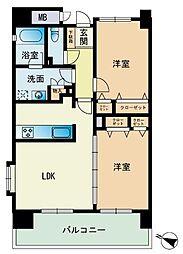 エコルクス赤坂II[8階]の間取り