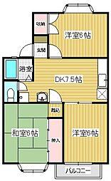 福岡県福岡市東区名島1丁目の賃貸アパートの間取り