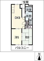 サンハイムシバ[1階]の間取り