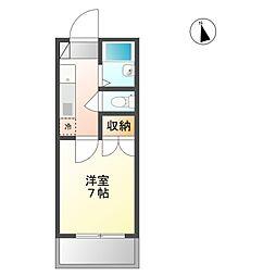 エトワール21船穂マンションB[2階]の間取り