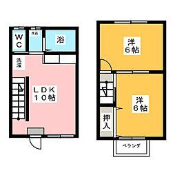 [テラスハウス] 愛知県津島市西愛宕町2丁目 の賃貸【/】の間取り