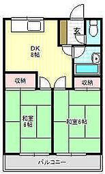 永本マンション[1階]の間取り