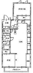 ヴィラミヤザキ[2階号室]の間取り