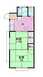 本橋荘[2階]の間取り