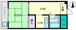 レジデンスマツダビル[6階]の間取り
